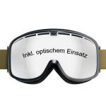 Skibrille mit optischem Einsatz