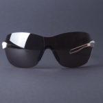 evil eye dlite-x Sportbrille e013 75 1500 white matt front - LST contrast silver