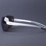 evil eye dlite-x Sportbrille e013 75 1500 white matt side - LST contrast silver
