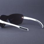 evil eye dlite-x Sportbrille e013 75 1500 white matt back - LST contrast silver